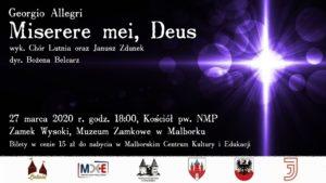 Georgio Allegri - Miserere mei, Deus @ Muzeum Zamkowe w Malborku - Zamek Wysoki, Kościół pw. NMP