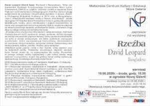 Wystawa Rzeźby - David Leopard @ Nova Galeria - Szpital Jerozolimski