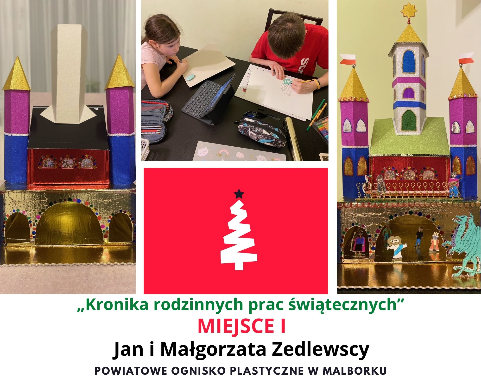 Rodzina Boże Narodzenie Kolaż Fotograficzny (1)