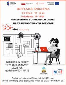 """""""Sieć na Kulturę"""" bezpłatne szkolenie @ CKiE Szkoła Łacińska"""